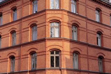 Backsteinhaus in der Altstadt von Wiesbaden
