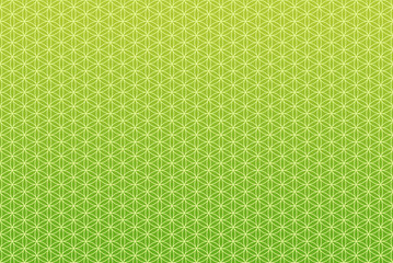 Hintergrund Muster Endlos - Blume des Lebens Grün 1