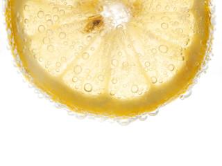 lemon with bubbles