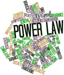 Word cloud for Power law