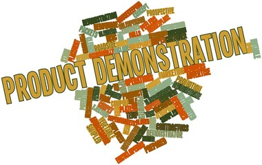 Word cloud for Product demonstration