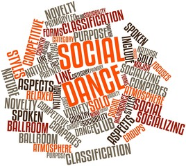 Word cloud for Social dance