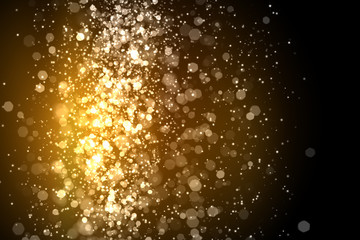 Gold abstract light background