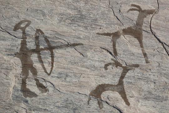 Old ancient petroglyph