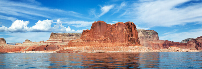 panoramic view of the lake Powell