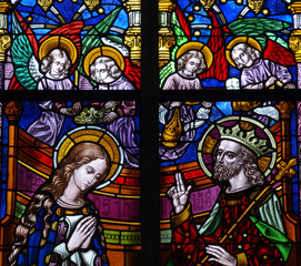 St. Mary crowned by angels