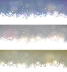 Set of abstract christmas banners.