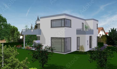 Einfamilienhaus flachdach stockfotos und lizenzfreie bilder auf