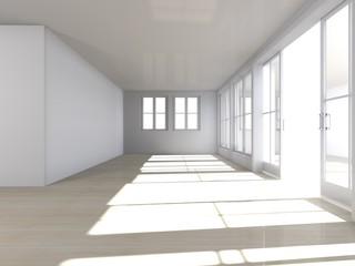 Zimmer mit großer Fensterfront