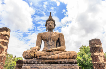 Ancient Budddha statue in Sukhothai
