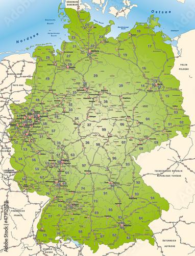 deutschland mit postleitzahlen und verkehrsnetz stockfotos und lizenzfreie vektoren auf. Black Bedroom Furniture Sets. Home Design Ideas