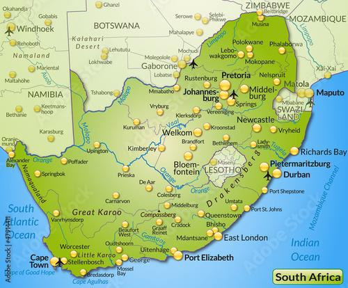 Südafrika Karte Pdf.Landkarte Von Südafrika Stock Image And Royalty Free Vector Files