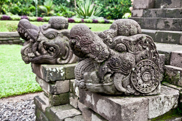 Stone craft in Candi Kidal Temple  near by Malang, east Java