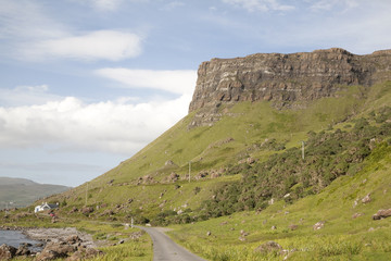 Open Road on the Isle of Mull; Scotland; UK