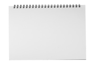 notebook textbook white blank paper