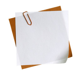 Blank paper note business office