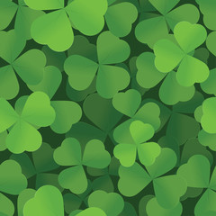 St. Patrick's Day shamrock seamless background pattern
