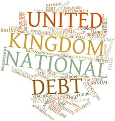Word cloud for United Kingdom national debt