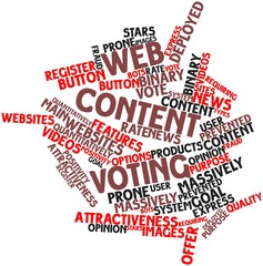Word cloud for Web content voting