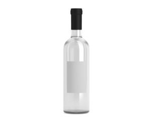 Weinflasche weiß mit Etikett klein