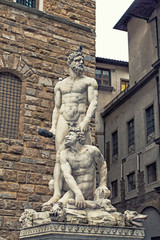 Famous statue of Hercules and Cacus