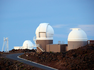 Observatory at the summit of Haleakala Crater, Maui
