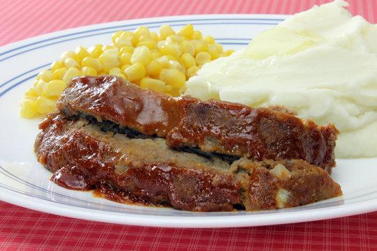 Jim's Meatloaf Dinner Plate