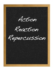 Action, Reaction, Repercussion.