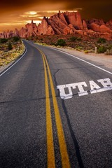 Wall Mural - Welcome in Utah