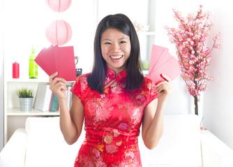 chinese new year girl