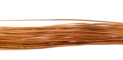 copper wire isolated