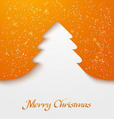 Orange christmas tree applique