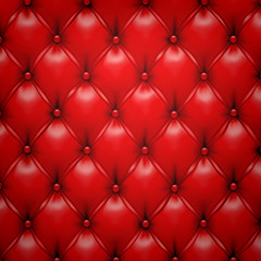 Red vector upholstery leather pattern background.