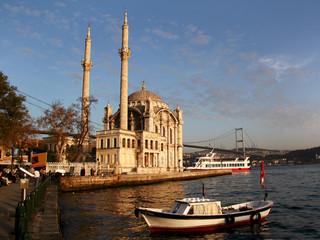 Canvas Prints Turkey Ortakoy at sunset, Istanbul, Turkey