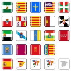 Buttons - spanische Regionen - glanz