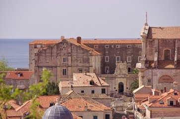 View at the historic city Dubrovnik in Croatia