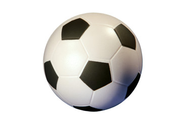 Soccer ball isolated in white