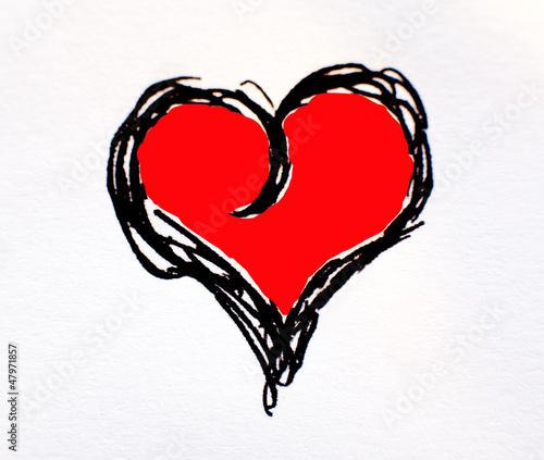 dessin de coeur peint en rouge photo libre de droits sur. Black Bedroom Furniture Sets. Home Design Ideas
