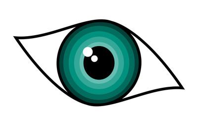 Beautiful green woman eye – symbol, vector