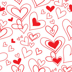 vector seamless pattern of heart