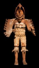 Eagle warrior statue. Aztec. Mexico.