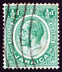 Postage stamp Jamaica 1927 King George V