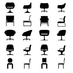 Set of Modern chair, vector