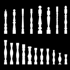 set of architectural element – balustrade, vector