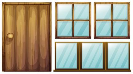 A door and windows