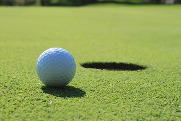 Golf ball on the sod