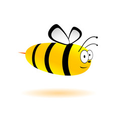 sweet and cute bee vector illustration
