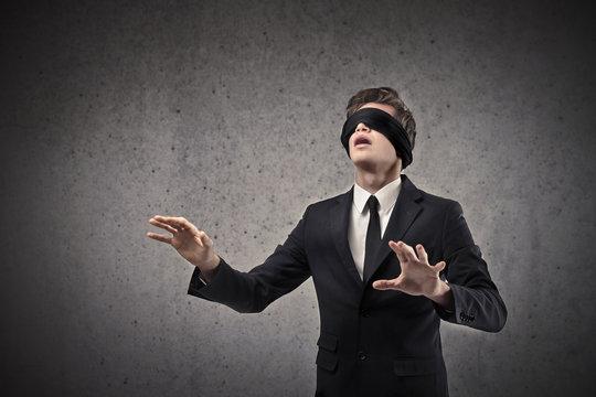 Blind Businessman