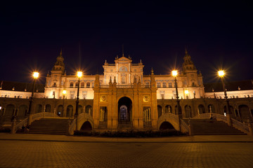 Fototapete - charming Plaza de Espana at night