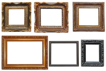 collection of very old painting frames